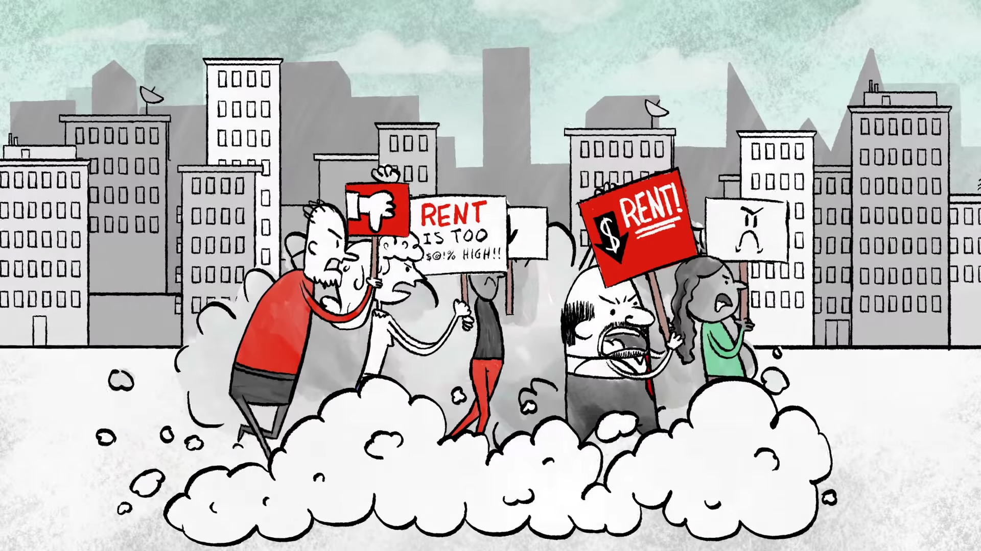 Rentcontrol protesters