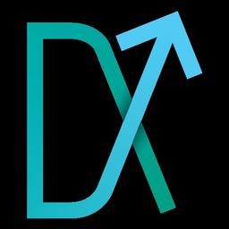 Large down kicker logo