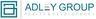 Medium adley group logo white background