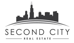 Large second city real estate logo   white close up