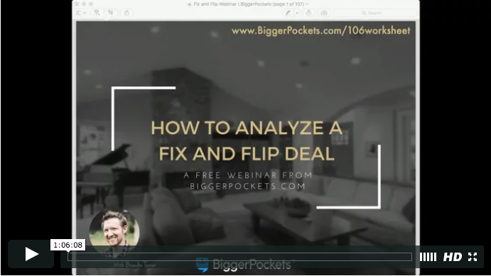 How to analyze fix and flips