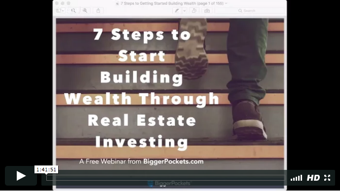 The 7 steps to getting started building wealth through real estate