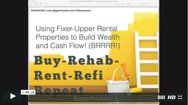 Using fixer upper rental properties to build wealth   brrrr