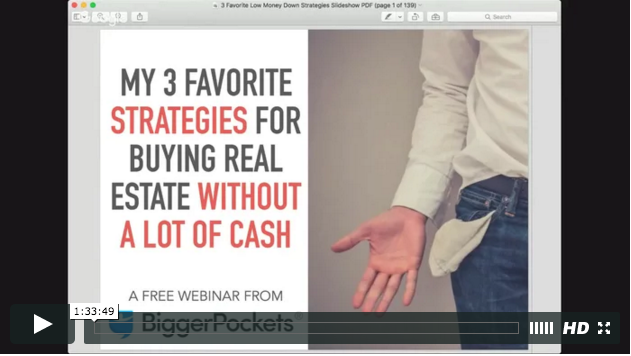 My 3 favorite  legit  strategies for buying real estate without a lot of cash