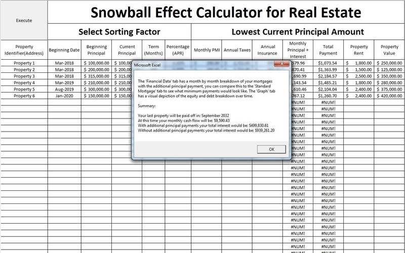 mortgage additional principal calculator