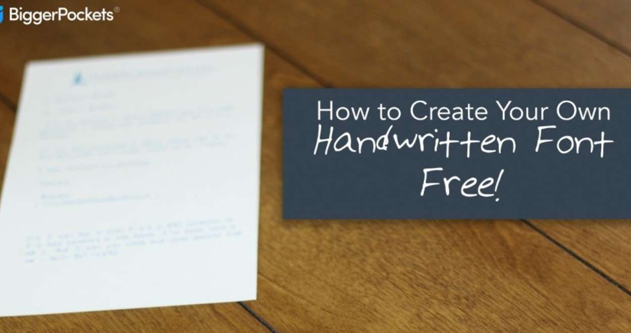 How To Create Your Own Handwritten Font For Free | Blog